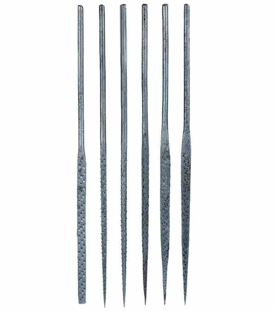 6 Piece Miniature Needle file Set